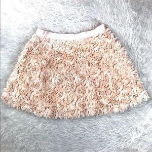 Forever 21 Blush Pink Rosette Tulle Skater Skirt